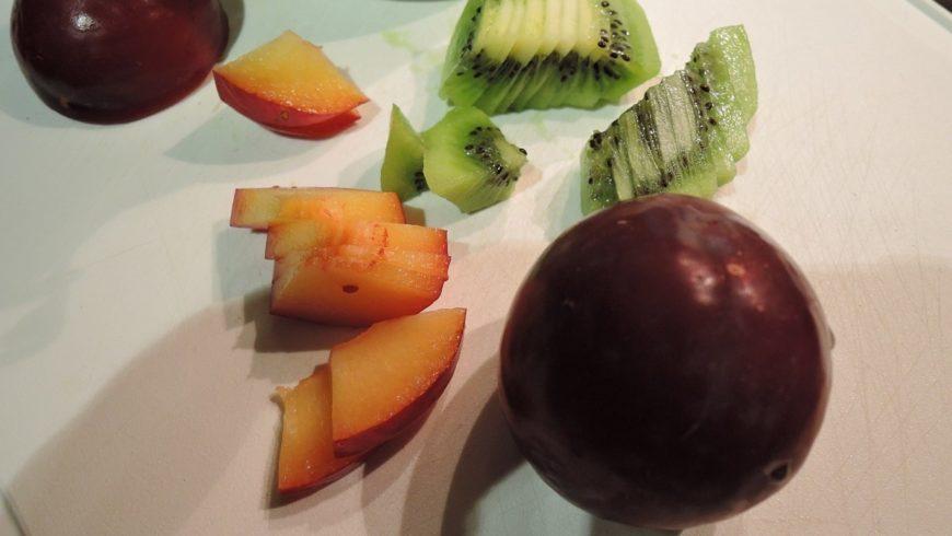 Warme Früchte mit Kokosöl