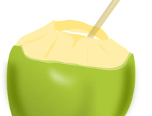 Fertige Produkte mit Kokoswasser