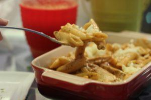 pasta kokosmilch und huehnchen